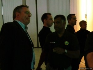 Journalist Joe Saward chats with Tony Fernandes