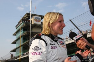 Pippa Mann - the first British woman to race in the Indy 500