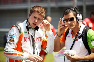 Paul di Resta retired from the race when his team detected a problem with his car