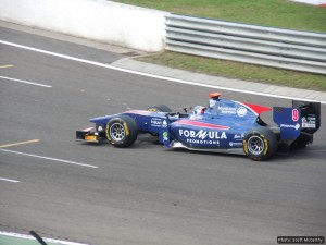 Sam on track at the Hungaroring