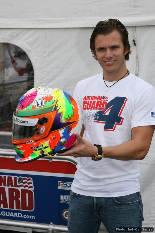 Each year Wheldon held a helmet design contest for children in hospital: here's the 2008 victor's work
