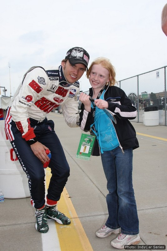 Wheldon always had time for fans of the sport, and they loved him for it
