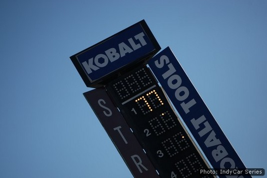 The scoring pylon at Las Vegas Motor Speedway pays lonely tribute