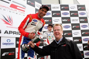 Luciano Bacheta on the Silverstone podium