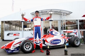 Luciano Bacheta celebrates his double victory