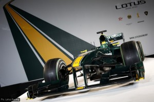 The Lotus T127 at its February 2010 launch in London