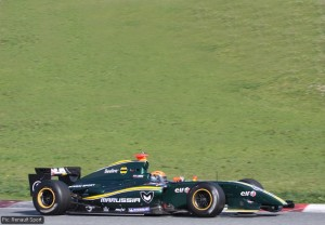 It's got the green and yellow - but no mention of Lotus anywhere
