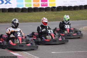 Racing three abreast