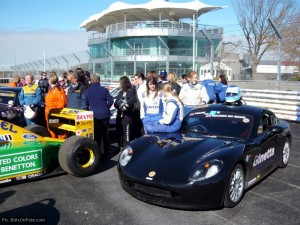 A younger crowd gathers around Moore's Ginetta