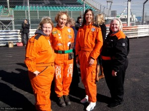 The marshals, Jean Whitebread on the right