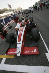Sam Bird in the Bahrain pitlane (Pic: GP2 media)