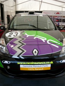 The YRC car in the garage at Rockingham (Pic: Onlineability)