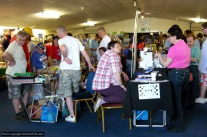 Collectors and enthusiasts bargain-hunting