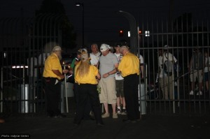 Early arrivals as the gate opens