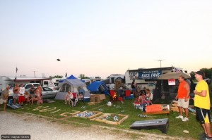 Fans at the campsite
