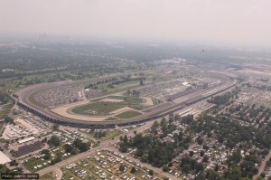 The 2.5 mile Indianapolis Motor Speedway from the air
