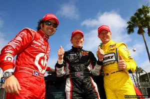 Franchitti, Conway and Briscoe all had reasons to be happy