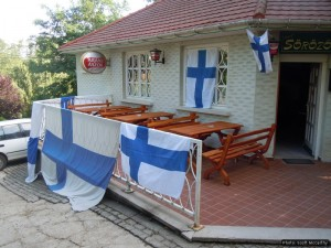 Where the Finnish fans gather in hope