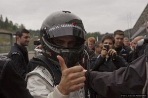 A thumbs-up for the new McLaren from Adam Christodoulou